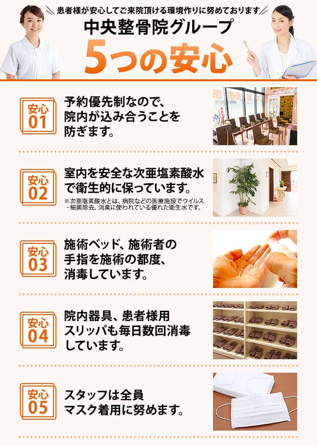 新飯塚中央整骨院の5つの安心