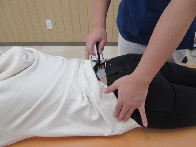 深部の筋肉を施術